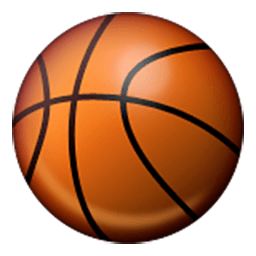 Basketball And Hoop Emoji For Facebook Email Sms Id 422