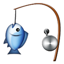 Fishing Pole And Fish Emoji