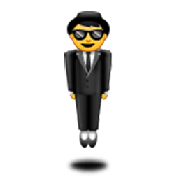Man In Business Suit Levitating Emoji