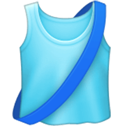 Running Shirt With Sash Emoji