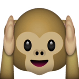 Hear-No-Evil Monkey Emoji