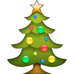 Christmas Tree Emoji for Facebook, Email & SMS | ID#: 283 | Emoji ...