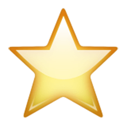 White Medium Star Emoji