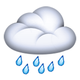 Cloud With Rain Emoji