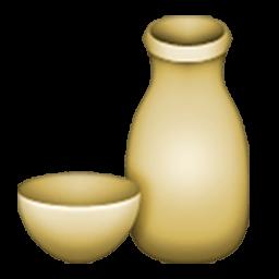 Sake Bottle And Cup Emoji
