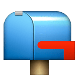 Closed Mailbox With Lowered Flag Emoji