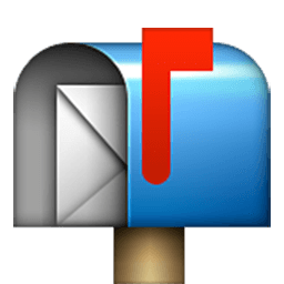 Open Mailbox With Raised Flag Emoji