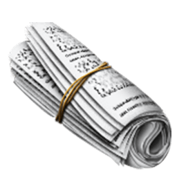 Rolled-Up Newspaper Emoji