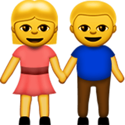 Man And Woman Holding Hands Emoji