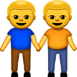 Two Men Holding Hands Emoji
