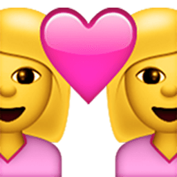 Couple (woman,woman) Emoji
