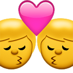 Kiss (man,man) Emoji