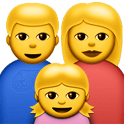 Family (man,woman,girl) Emoji