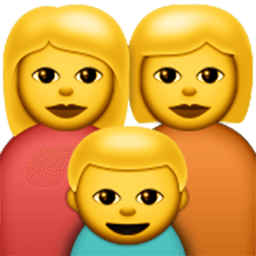 Family (woman,woman,boy)