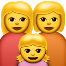 Family (woman,woman,girl) Emoji