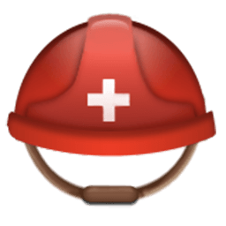 Helmet With White Cross Emoji