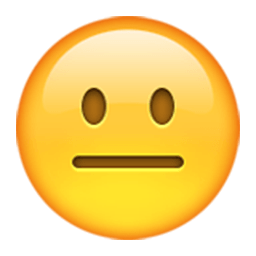 Neutral Face Emoji