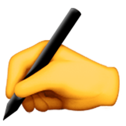 Writing Hand Emoji