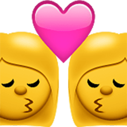 Kiss (woman,woman) Emoji