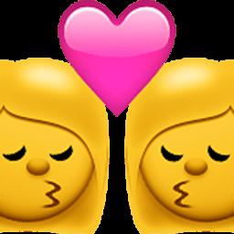 Kiss (woman,woman)