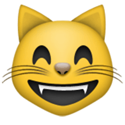 Grinning Cat Face With Smiling Eyes