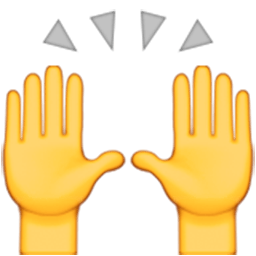 Person Raising Both Hands In Celebration Emoji