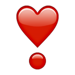 Heavy Heart Exclamation Mark Ornament Emoji
