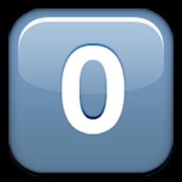 Keycap Digit Zero Emoji