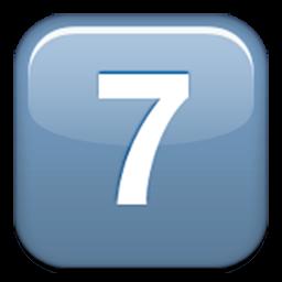 Keycap Digit Seven Emoji