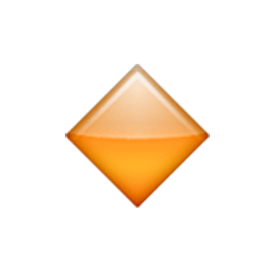 Small Orange Diamond Emoji