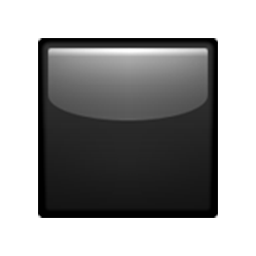 Black Medium Small Square Emoji