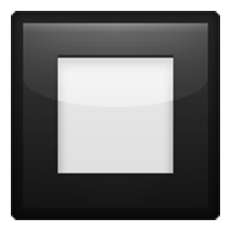 Black Square Button Emoji