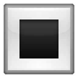 White Square Button
