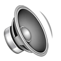Speaker With One Sound Wave Emoji