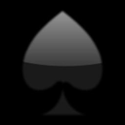 Black Spade Suit Emoji