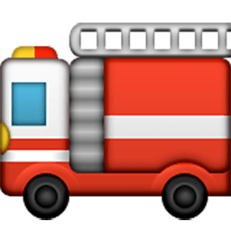 Fire Engine Emoji