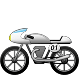 Racing Motorcycle Emoji