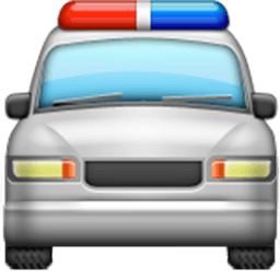 Oncoming Police Car Emoji