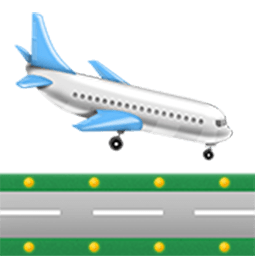 Airplane Arriving Emoji