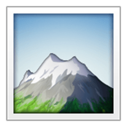 Snow Capped Mountain Emoji
