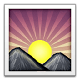 Sunrise Over Mountains Emoji