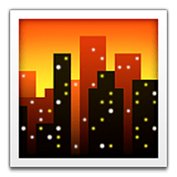 Cityscape At Dusk Emoji