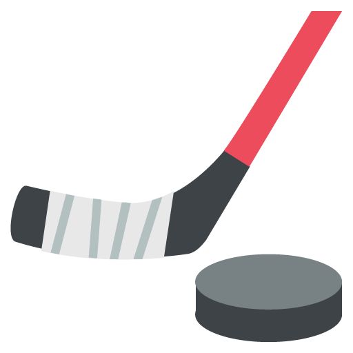 Ice Hockey Stick And Puck Emoji