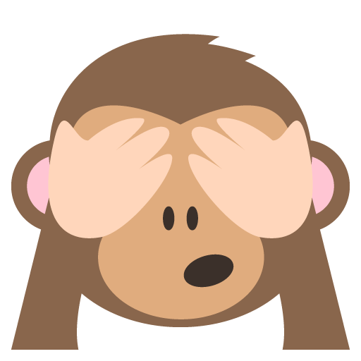 See no evil monkey emoji
