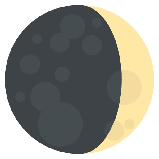 Waxing Crescent Moon Symbol Emoji
