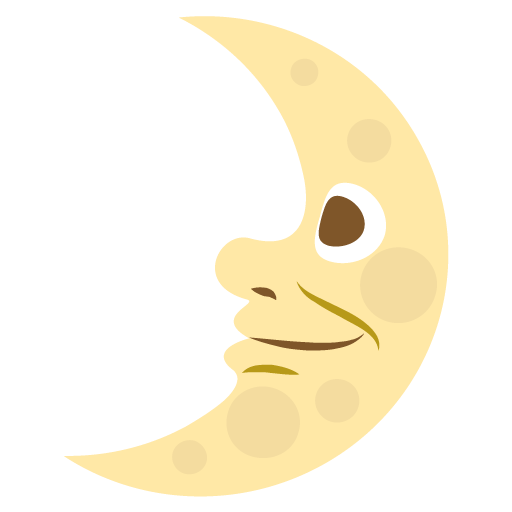 First Quarter Moon With Face Emoji