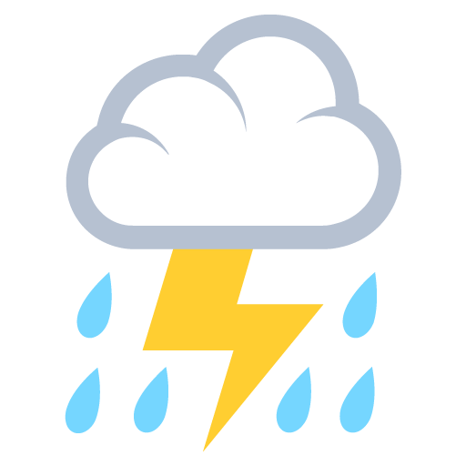 Thunder Cloud And Rain Emoji