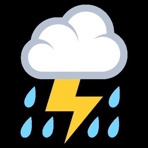 Thunder Cloud And Rain Emoji