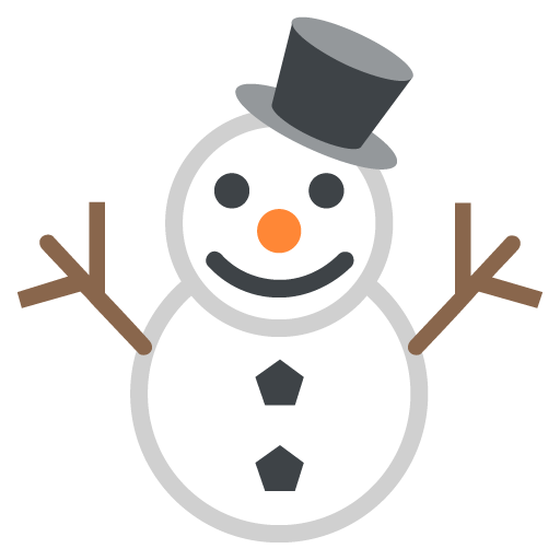 Snowman Without Snow Emoji