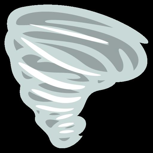Cloud With Tornado Emoji